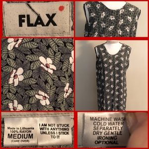 Fun Maxi Floral Sundress by Flax (M)